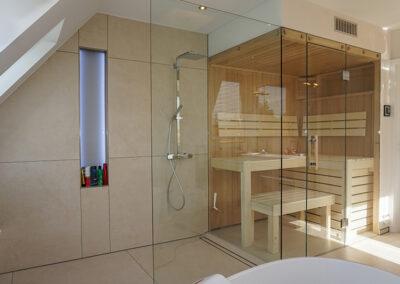 dusch sauna konstruktion