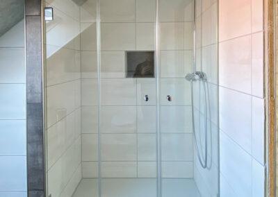 duschsystem mit 2 pendeltueren