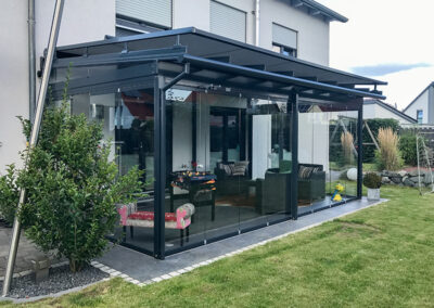 solarlux Glashaus mit sl25 nthrazit