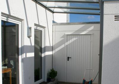 solarlux terrassendach haus garage